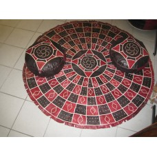African Handcrafted Leather Floor Mat