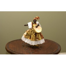 Large Dancing Doll With Calabash Bowl