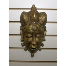 African Queen of Benin Bronze Mask